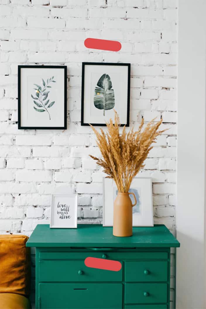 Plant on green desk