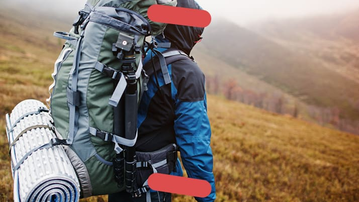 Hiker in countryside
